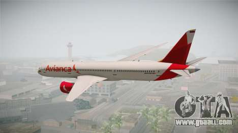 Boeing 787 Avianca for GTA San Andreas left view