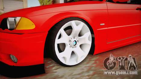 BMW 3 Series E46 CamberKinG for GTA San Andreas back view