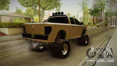 GTA 5 Bison 4x4 for GTA San Andreas back left view