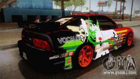 Nissan 180SX Facelift Silvia S15 Hatsune Miku for GTA San Andreas left view