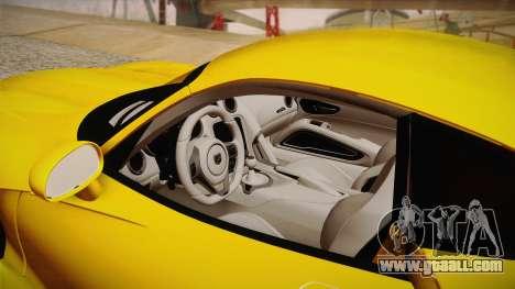 Dodge Viper SRT 2013 for GTA San Andreas side view