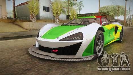 GTA 5 Progen Itali GTB Custom IVF for GTA San Andreas upper view