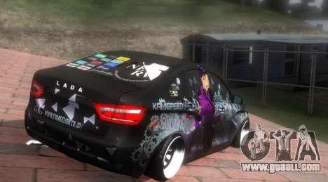 Lada Vesta ITASHA PROJECT NERV MISATO for GTA San Andreas back left view