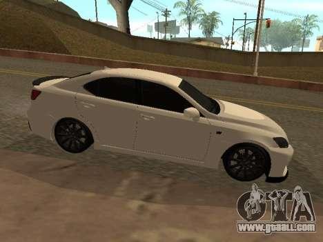Lexus IS F Armenian for GTA San Andreas left view