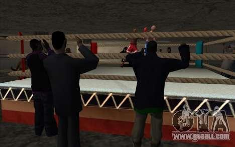 Illegal Boxing tournament V2.0 for GTA San Andreas second screenshot