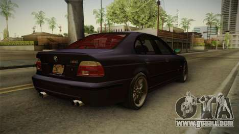 BMW M5 E39 Stock 2001 for GTA San Andreas back left view