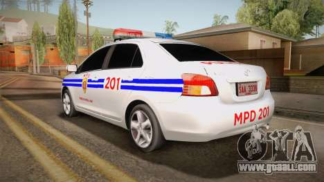 Toyota Vios Philippine Police for GTA San Andreas left view