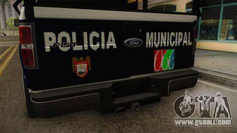 Ford F-150 Policia Municipal De Tijuana for GTA San Andreas inner view