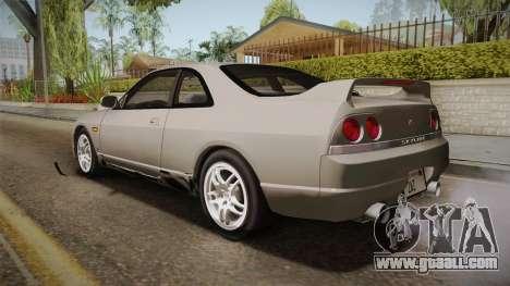 Nissan Skyline GTS25-t Mk.IX R33 Paintjob for GTA San Andreas left view