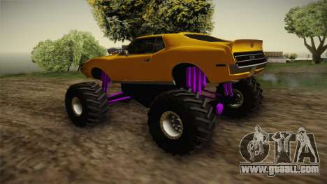 AMC Javelin AMX 401 1971 Monster Truck for GTA San Andreas right view