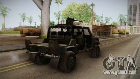 Iveco Lince Light LMV for GTA San Andreas back left view