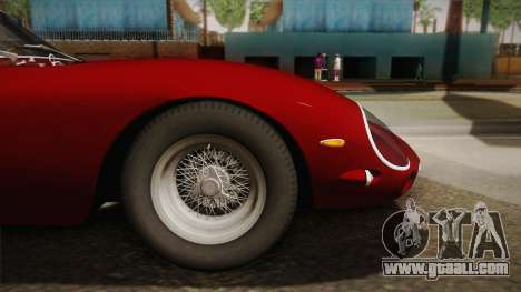 Ferrari 250 GTO (Series I) 1962 HQLM PJ1 for GTA San Andreas back left view