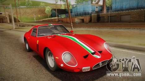 Ferrari 250 GTO (Series I) 1962 HQLM PJ1 for GTA San Andreas upper view