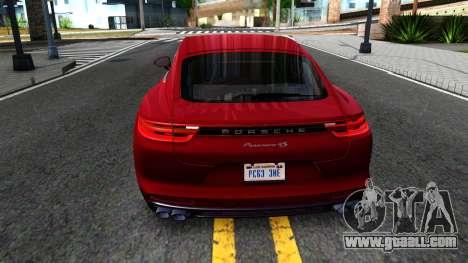 Porsche Panamera 4S 2017 v 4.0 for GTA San Andreas back left view