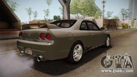 Nissan Skyline GTS25-t Mk.IX R33 Paintjob for GTA San Andreas right view