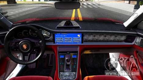 Porsche Panamera 4S 2017 v 4.0 for GTA San Andreas inner view