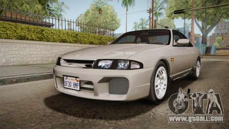 Nissan Skyline GTS25-t Mk.IX R33 Paintjob for GTA San Andreas back left view