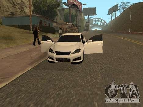 Lexus IS F Armenian for GTA San Andreas side view
