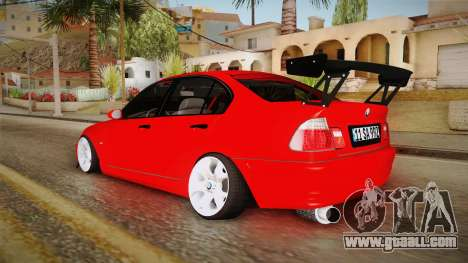 BMW 3 Series E46 CamberKinG for GTA San Andreas back left view