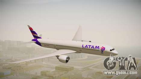 Boeing 787 LATAM for GTA San Andreas back left view