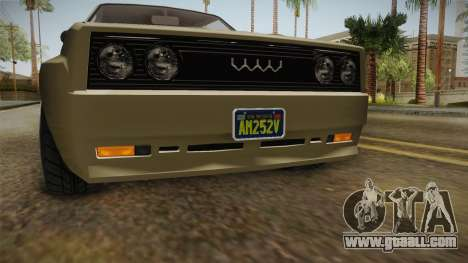 GTA 5 Obey Omnis Normal IVF for GTA San Andreas side view