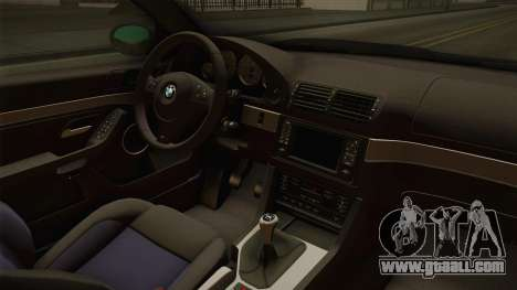 BMW M5 E39 Stock 2001 for GTA San Andreas inner view