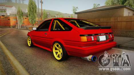 Toyota Corolla GT-S Drift for GTA San Andreas left view
