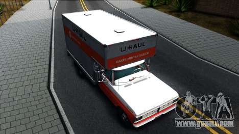 Ford F-350 U-Haul 1971 v1.1 for GTA San Andreas right view