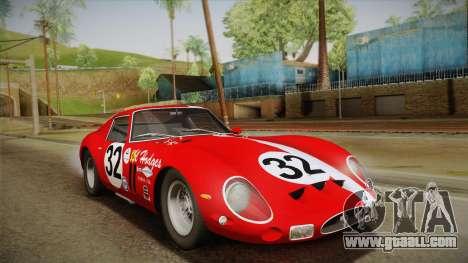 Ferrari 250 GTO (Series I) 1962 HQLM PJ1 for GTA San Andreas interior
