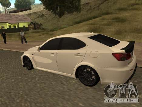 Lexus IS F Armenian for GTA San Andreas back left view