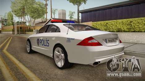 Mercedes-Benz CLS 500 Turkish Police for GTA San Andreas back left view