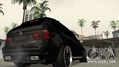 BMW X5 HAMANN for GTA San Andreas left view