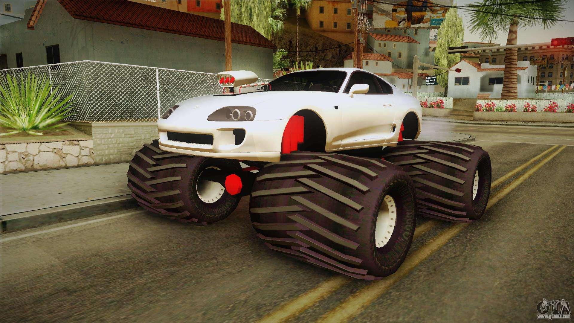 toyota supra monster truck  gta san andreas