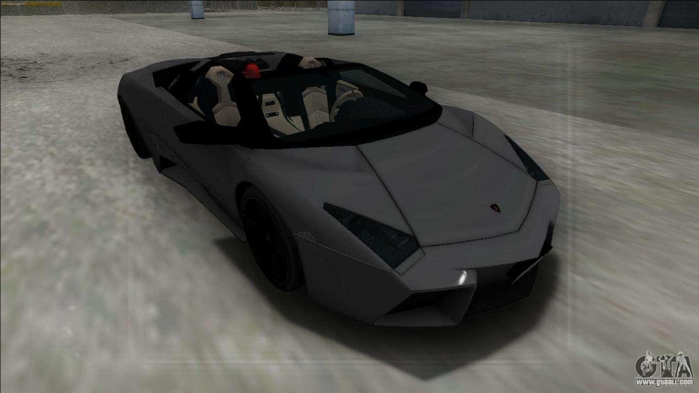 2009 lamborghini reventon roadster fbi for gta san andreas. Black Bedroom Furniture Sets. Home Design Ideas