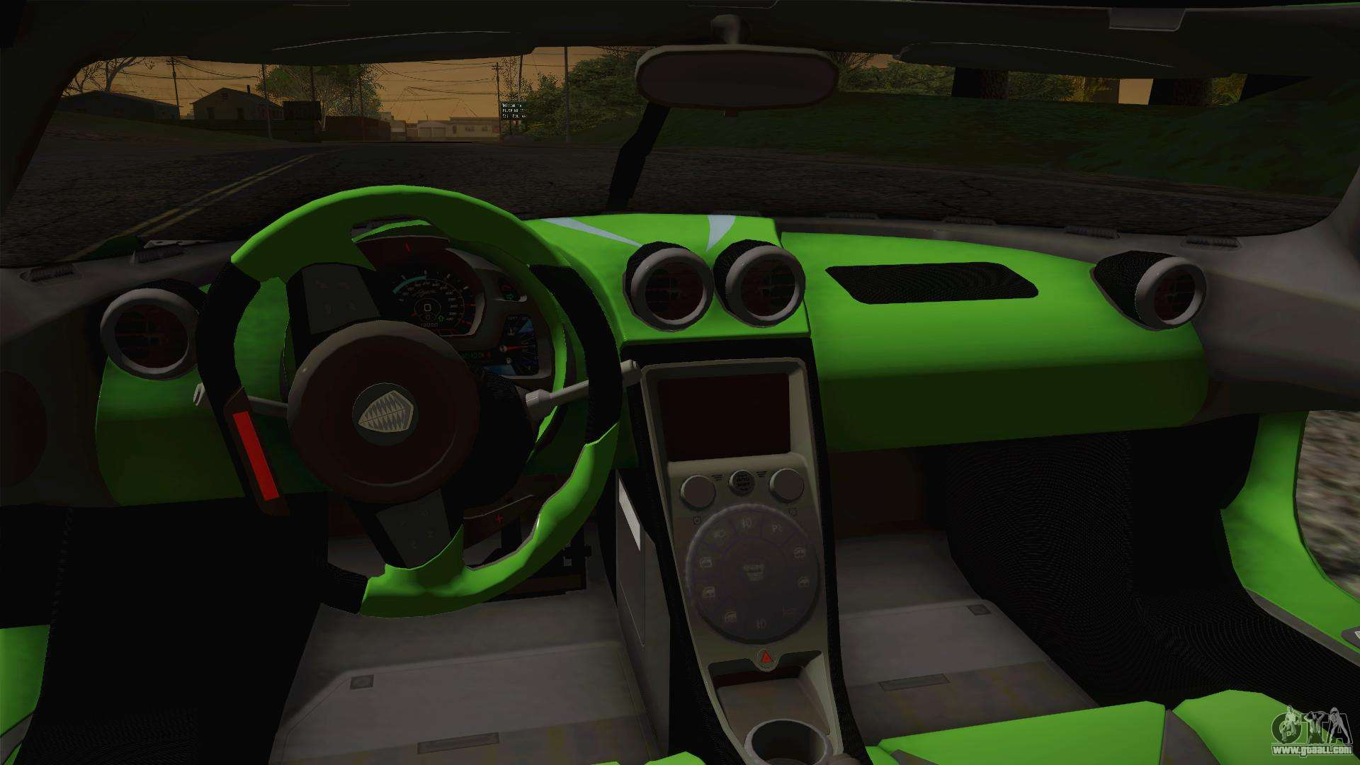 koenigsegg agera color interior for gta san andreas. Black Bedroom Furniture Sets. Home Design Ideas