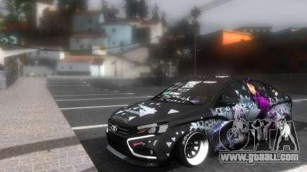 Lada Vesta ITASHA PROJECT NERV MISATO for GTA San Andreas
