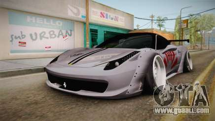 Ferrari 458 Liberty Walk Performance for GTA San Andreas