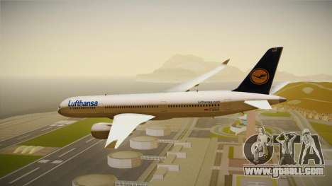 Airbus A350 Lufthansa for GTA San Andreas right view