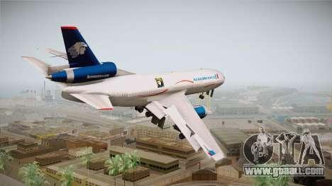McDonnell-Douglas DC-10 Aeromexico for GTA San Andreas left view