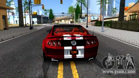 Ford Mustang Shelby GT500 2013 v1.0 for GTA San Andreas back left view