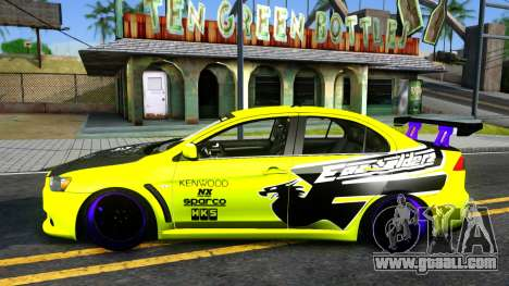 Mitsubishi Lancer Evolution X Tuning for GTA San Andreas left view