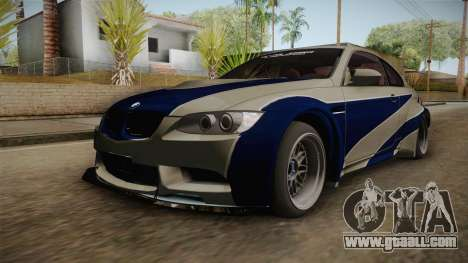 BMW M3 NFS Most Wanted Liberty Walk for GTA San Andreas
