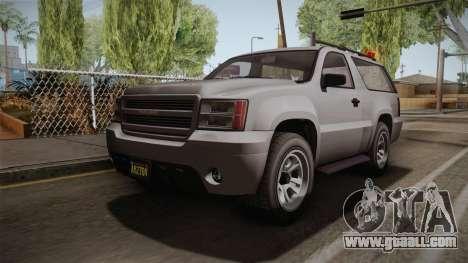 GTA 5 Declasse Granger 2-doors for GTA San Andreas