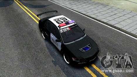 Mitsubishi Lancer Evolution IX Police for GTA San Andreas right view