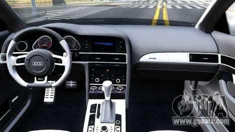 Audi RS6 Avant for GTA San Andreas inner view