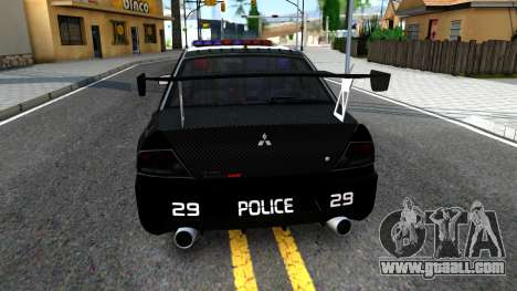 Mitsubishi Lancer Evolution IX Police for GTA San Andreas back left view