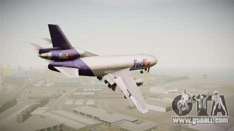McDonell-Douglas DC-10-30F Fedex for GTA San Andreas left view