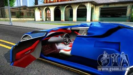 Alien ZR-350 for GTA San Andreas inner view