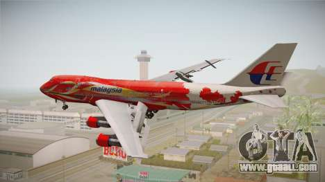 Boeing 747 Malaysia Airlines Hibiscus Livery for GTA San Andreas right view