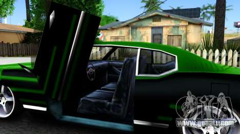 Sabre Drift Green Strips for GTA San Andreas inner view